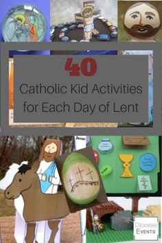 Catholic Kid and Family Activities for each day of Lent for Holy Week Good Friday Ash Wednesday religious education Holy Thursday lent crafts for kids Catholic lent activities and crafts for catholic kids young children older kids adults lent countdown Catholic Easter, Catholic Lent, Catholic Religious Education, Catholic Crafts, Catholic Children, Catholic Homeschooling, Children Ministry, Holy Week Activities, Prayers