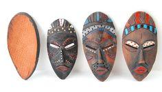 DIY Handmade clay aboriginal masks Terracotta Clay DIY