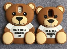 3d Teddy bear case cartoon soft silicon cover for Samsung Galaxy S5 S6 Note 4 Note 5