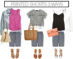 3 Ways to Wear: Printed Shorts