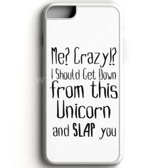 Funny Animal Unicorn Quote iPhone 7 Case | aneend