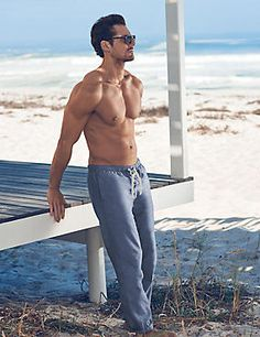 Pure Cotton Chambray Beach Joggers