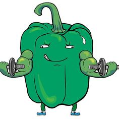 Dumbbell Pepper Green