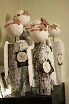 Primitive Christmas, Christmas Tag, Christmas Angels, All Things Christmas, Decor Crafts, Diy And Crafts, Diy Angels, Angel Crafts, Craft Show Ideas
