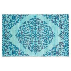 Check out this item at One Kings Lane! 5'x8' Sari Silk Rug, Light Dull Cyan