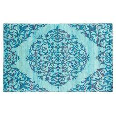 Check out this item at One Kings Lane! 5'x8' Sari Silk Rug, Light Dull Cyan