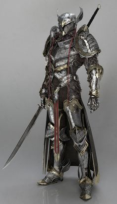 Warrior knight in armor