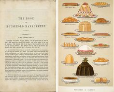 Title page and illustration from Mrs Beeton's Book of Household Management