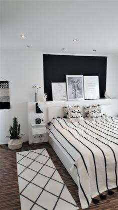 #Schlafzimmer #neue_tagesdecke #Skandinavisch_wohnen... Schwarz  Funktioniert ...