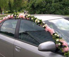 Hochzeitsauto Dekor Vicky Prevena for WedinArt Diy Wedding Stage, Diy Wedding, Wedding Flowers, Dream Wedding, Decor Wedding, Just Married Car, Bridal Car, Outdoor Wedding Decorations, Floral Arch