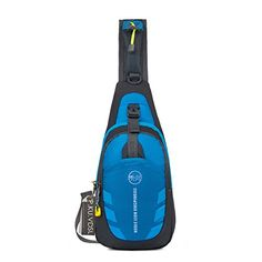 Shoulder Backpack PKUVDSL Casual CrossBody Bag Waterproof Sling Bag Chest Pack Gym Fanny Bag Sack Satchel For Men And Women Outdoor Cycling Hiking Camping Travel NOBLE LION SERIES Blue -- Want to know more, click on the image.