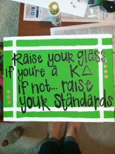 raise your glass if you're a KD, if not, raise your standards