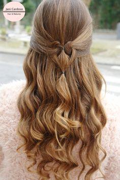 Semi Preso com Coração * Heart Hairstyle