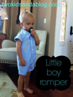 Little Boy Romper - Two Kids and a Blog