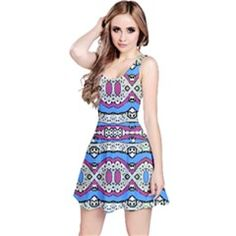 Aztec Style Pattern in Pastel Colors Sleeveless Dress by dflcprintsclothing