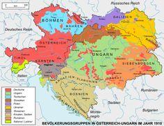 ÖSTERREICH-UNGARN (bis 1918): NATIONALITÄTEN-Karte