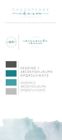 New photography logo design brand board Ideas Corporate Design, Logo Branding, Branding Design, Watercolor Branding, Watercolor Design, Beach Logo, Waves Logo, Photography Logo Design, Startup