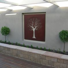 """Find out additional information on """"metal tree artwork"""". Take a look at our site. Garden Art, Exterior Wall Design, Modern Outdoor, Art Gallery Wall, Metal Wall Art, Garden Wall, Outdoor Walls, Metal Tree Wall Art, Garden Wall Art"""