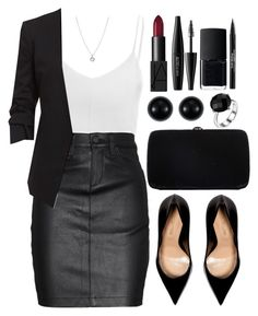 """""""Untitled #3862"""" by natalyasidunova ❤ liked on Polyvore featuring Glamorous, rag & bone/JEAN, Finn, Sergio Rossi, NARS Cosmetics, MAKE UP FOR EVER, Blue Nile and Trish McEvoy"""