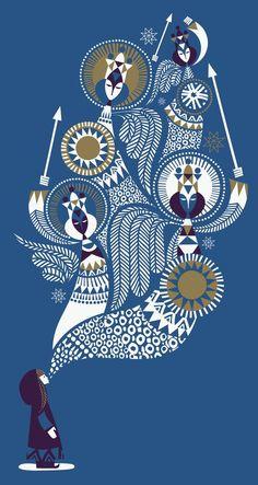 #Illustration von Sanna Annukka »Die Schneekönigin« Knesebeck Verlag, 88 Seiten, 14,95 Euro, ISBN 978-3-86873-873-5