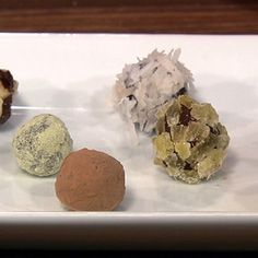 Michael Simon's Chocolate Truffles. So easy and delicious! (hint. add a little rum for an adult only dessert). We liked it topped with finely crushed pretzels, pop rocks or sprinkles.