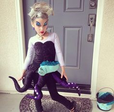 URSULA child costume DIY Homemade Disney Villians little girls