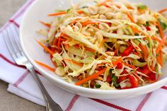 Thai cabbage salad. The dressing is fantastic.