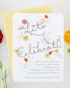 Let's celebrate a springtime of fun with personalized party invitations from Tiny Prints.
