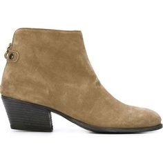 Fiorentini+Baker Anle Boots of Leather ($155) ❤ liked on Polyvore featuring shoes, boots, ankle booties, beige, short boots, leather booties, real leather boots, beige booties and fiorentini baker boots