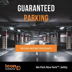 Guaranteed Parking - 🚘 Shop Parking Specials across the neighborhoods of New York this weekend. SAVE up to 20% OFF booking with @iconparkingnyc   🚘 We offer safe & secure parking all across New York City so you can find a parking spot in a location that's most convenient for you.   👉🏻 To learn more about our deals and our parking garage locations, contact us today.  #IconParkingNYC #ParkWithUs Icon Parking, New York City, The Neighbourhood, Garage, Learning, Shop, Carport Garage, The Neighborhood, New York