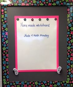 Middle School Math Rules!: Made 4 Math Monday- Homemade Whiteboards