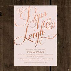 Elegant Classic Wedding Invitation & Save the by FeelGoodInvites