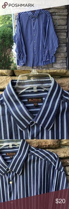 80350c0c706f5b Ben Sherman Blue White Shirt SZ XL Men s Ben Sherman button front shirt  Blue is it s white and brown Very good condition Size XL cotton Ben Sherman  Shirts