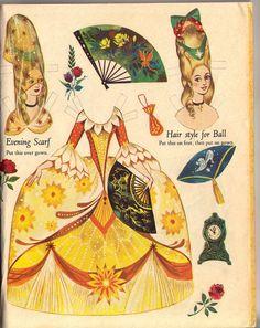 Fairy Tale Mood — Cinderella paper dolls by Gordon Laite Disney Paper Dolls, Paper Art, Paper Crafts, Paper Dolls Printable, Printable Vintage, Paper People, Up Book, Vintage Paper Dolls, Vintage Books