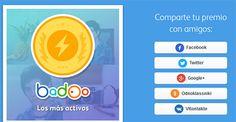 Como compartir tus premios Badoo