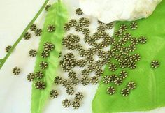 Antique Bronze Daisy Spacer Beads--3.7x1mm