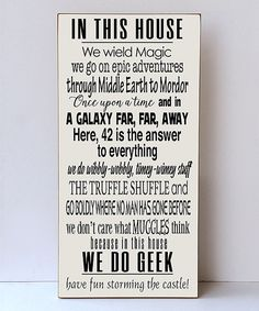 Another great find on #zulily! 'We Do Geek' Wall Sign by Vinyl Crafts #zulilyfinds