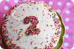 Tarta de cumpleaños con número