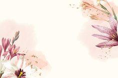 Flower Background Wallpaper, Beige Background, Flower Backgrounds, Background Patterns, Watercolor Wallpaper, Painting Wallpaper, Watercolor Background, Watercolor Flowers, Cute Laptop Wallpaper