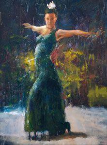 Flamenco Green Side 2, by American Artist Hyatt Moore