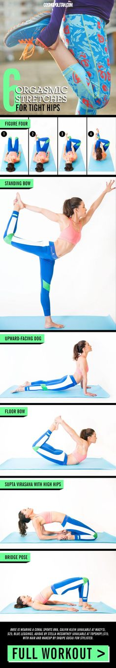 Every time you sit down, you're actively shortening the muscles in your hips, which ultimately makes them feel stiff. Luckily, some simple-but-incredibly-satisfying stretches can relieve the tension and promote flexibility.