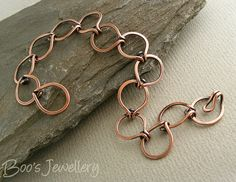 Antiqued copper round link bracelet - 23583f by Boo's Jewellery, via Flickr