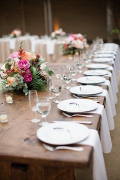 Rustic-elegant wedding table: http://www.stylemepretty.com/2014/09/10/vibrant-open-air-wedding-santa-barbara/ | Photography: Diana McGregor - http://www.dianamcgregor.com/