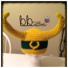 Loki from Thor crochet beanie all sizes made to by BeccasBeanies