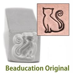 Beaducation: Sadie the Cat Design Stamp- Beaducation Original [DS293]-I want one