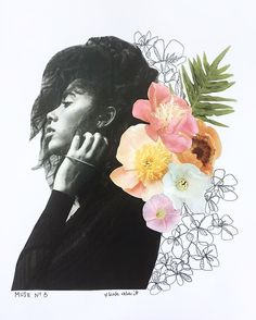 Muse No. 3 flower collage by kate rabbit