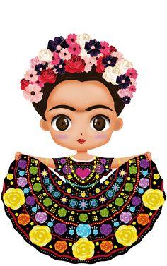 Frida Kahlo Birthday, Frida Kahlo Cartoon, Mexican Paintings, Frida Art, Black Girl Cartoon, Mosaic Pictures, Mosaic Flowers, Mexican Party, Fashion Art