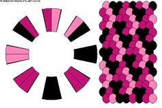 Strings: 16 Colors: 3 -  Kumihimo Camo