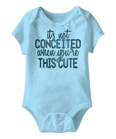 'It's Not Conceited' Bodysuit