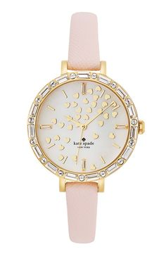 sweet Kate Spade watch with heart adorned dial